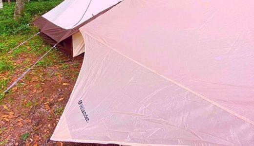ウィングタープ(ひし形)【テントと連結しやすいタープ】使用感・レビュー