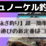 シュノーケル釣り【泳ぎ釣り】超〜簡単!夏の磯遊びの新定番はコレだ!